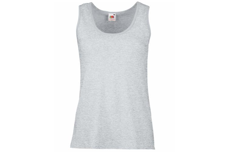Fruit Of The Loom Ladies/Womens Lady-Fit Valueweight Vest (Heather Grey) (L)