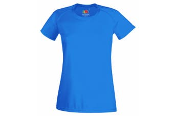 Fruit Of The Loom Ladies/Womens Performance Sportswear T-Shirt (Azure Blue) (S)