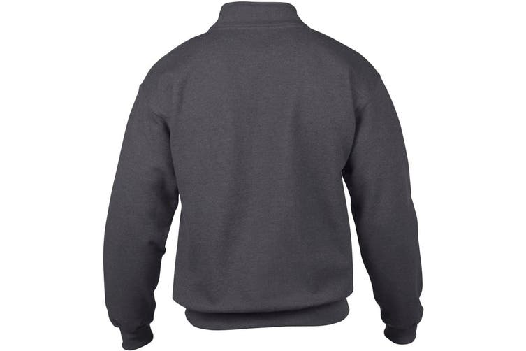 Gildan Adult Vintage 1/4 Zip Sweatshirt Top (Tweed) (3XL)