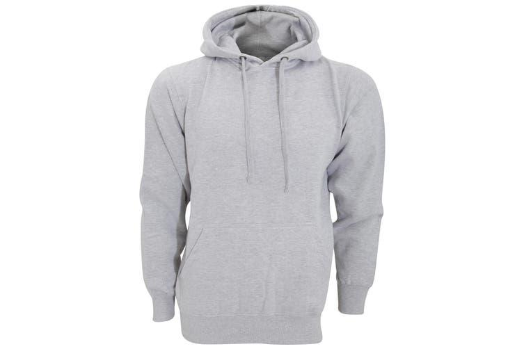 FDM Unisex Tagless Hooded Sweatshirt / Hoodie (Heather Grey) (L)