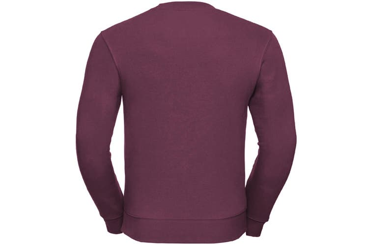 Russell Mens Authentic Sweatshirt (Slimmer Cut) (Burgundy) (2XL)