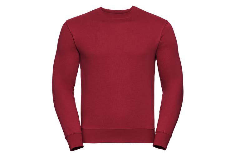 Russell Mens Authentic Sweatshirt (Slimmer Cut) (Classic Red) (S)