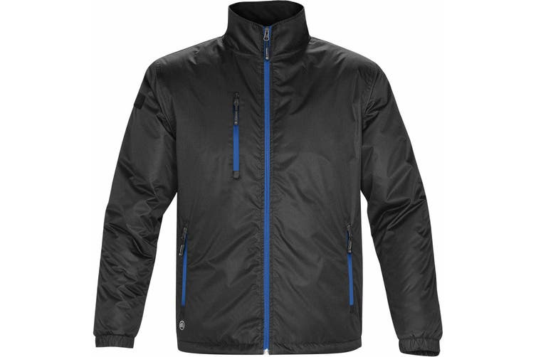 Stormtech Mens Axis Water Resistant Jacket (Black/Royal) (XL)