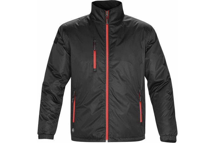 Stormtech Mens Axis Water Resistant Jacket (Black/Sport Red) (3XL)