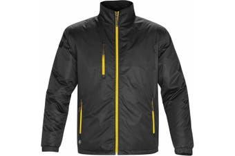 Stormtech Mens Axis Water Resistant Jacket (Black/Sundance) (2XL)
