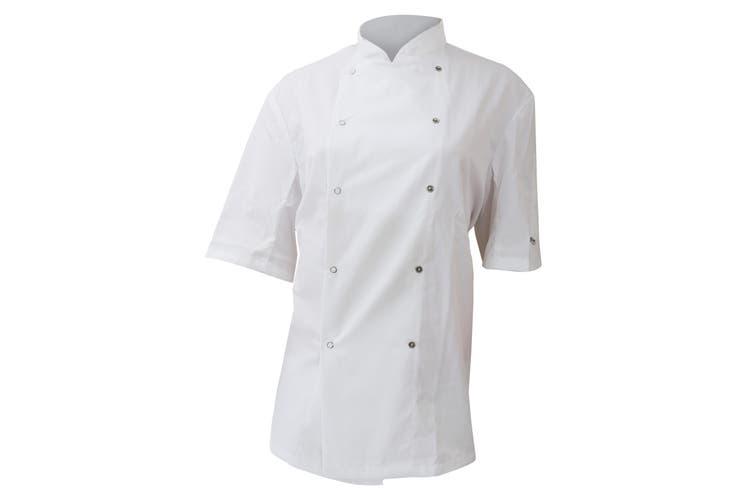 Dennys AFD Mens Chefs Jacket / Chefswear (White) (XS)