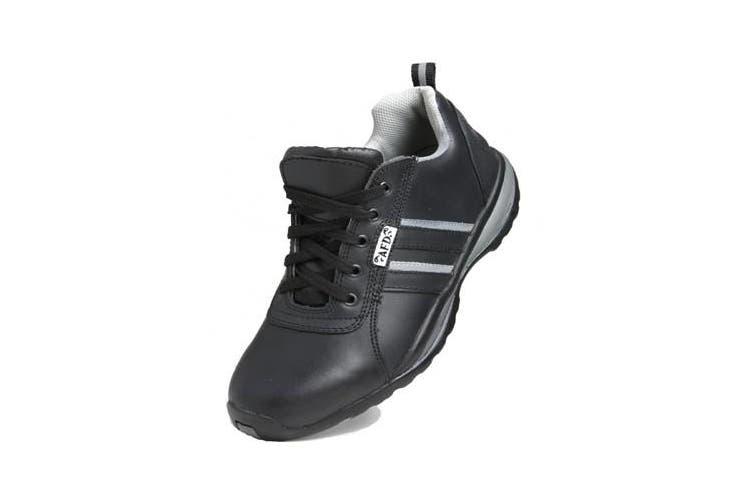 Dennys Unisex AFD Steel Toe Cap Safety Trainer / Footwear (Black/Grey) (37 EUR)