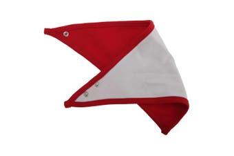 Babybugz Baby Plain Bandana Bib (White/Red) (One Size)
