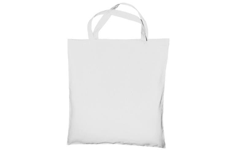 "Jassz Bags ""Cedar"" Cotton Short Handle Shopping Bag / Tote (Snow White) (One Size)"