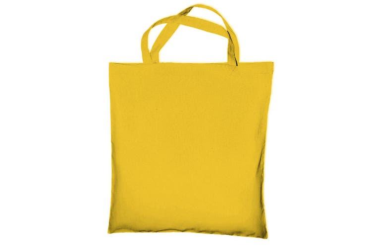 "Jassz Bags ""Cedar"" Cotton Short Handle Shopping Bag / Tote (Yellow) (One Size)"