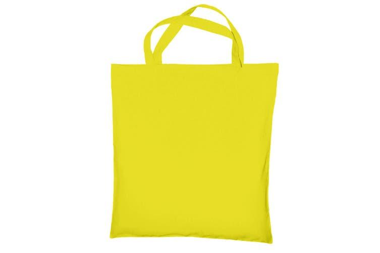 "Jassz Bags ""Cedar"" Cotton Short Handle Shopping Bag / Tote (Buttercup) (One Size)"