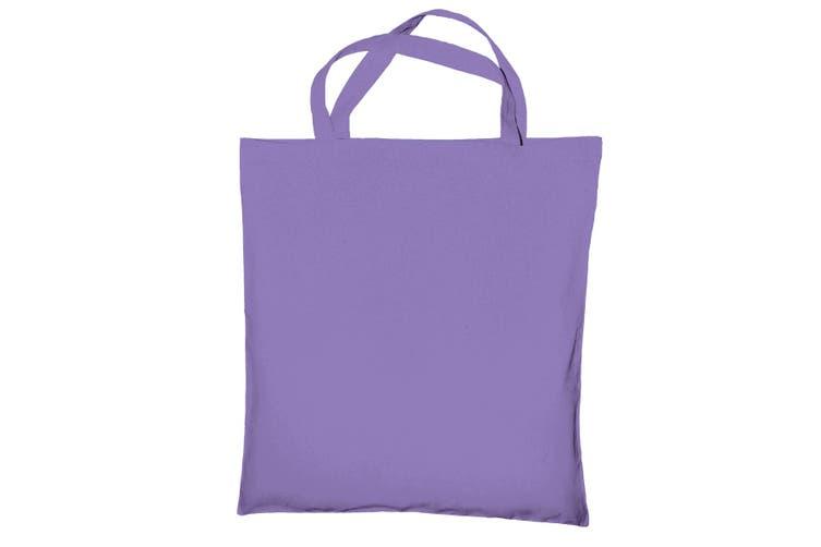 """Jassz Bags """"Cedar"""" Cotton Short Handle Shopping Bag / Tote (Lavender) (One Size)"""