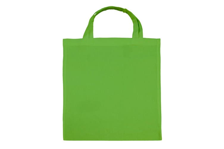 "Jassz Bags ""Cedar"" Cotton Short Handle Shopping Bag / Tote (Lime) (One Size)"