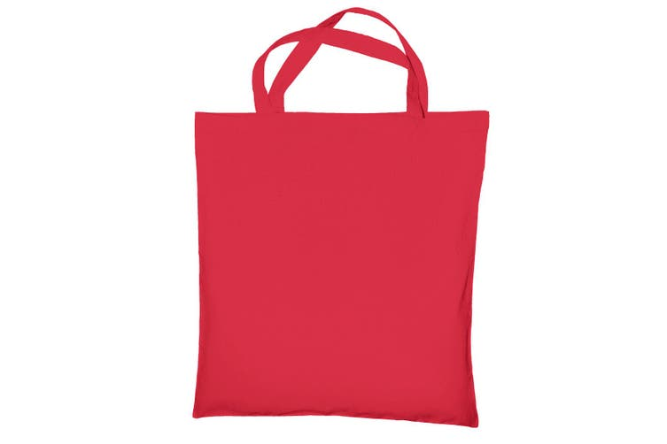 """Jassz Bags """"Cedar"""" Cotton Short Handle Shopping Bag / Tote (Rouge Red) (One Size)"""