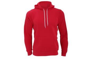 Canvas Unisex Pullover Hooded Sweatshirt / Hoodie (Red) (XS)