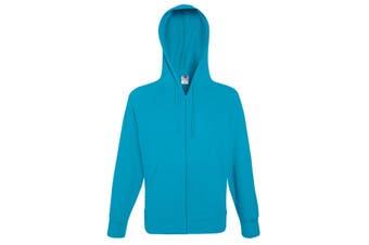 Fruit Of The Loom Mens Lightweight Full Zip Jacket / Hoodie (Azure Blue) (S)