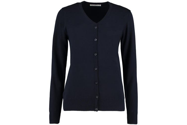 Kustom Kit Womens V-Neck Cardigan / Ladies Knitwear (Navy Blue) (8)