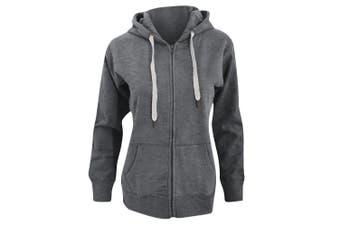 Mantis Womens/Ladies Superstar Zip Hooded Sweatshirt / Hoodie (Heather Grey Melange) (L)