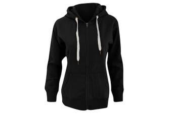 Mantis Womens/Ladies Superstar Zip Hooded Sweatshirt / Hoodie (Black) (M)