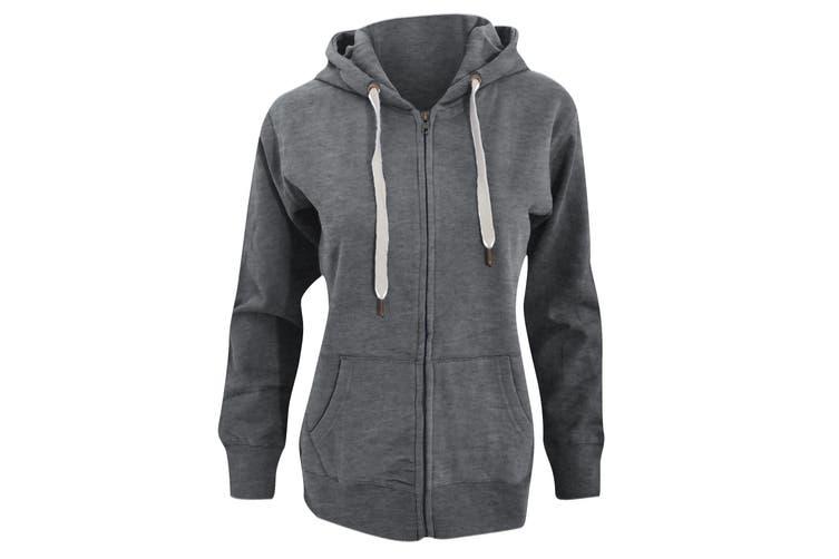 Mantis Womens/Ladies Superstar Zip Hooded Sweatshirt / Hoodie (Heather Grey Melange) (XL)