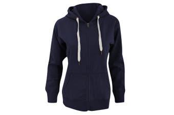 Mantis Womens/Ladies Superstar Zip Hooded Sweatshirt / Hoodie (Swiss Navy) (S)