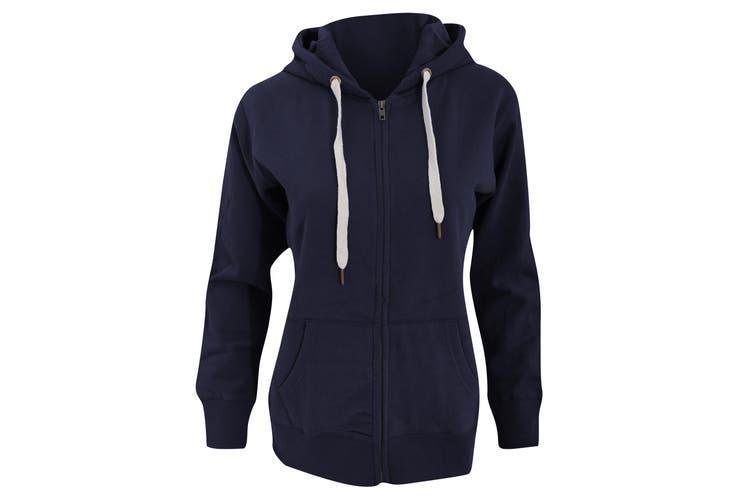 Mantis Womens/Ladies Superstar Zip Hooded Sweatshirt / Hoodie (Swiss Navy) (XL)