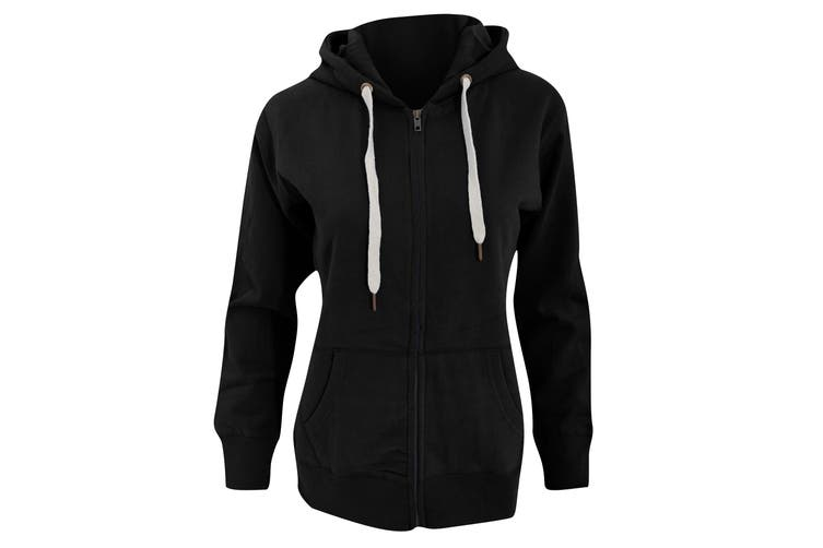 Mantis Womens/Ladies Superstar Zip Hooded Sweatshirt / Hoodie (Black) (L)