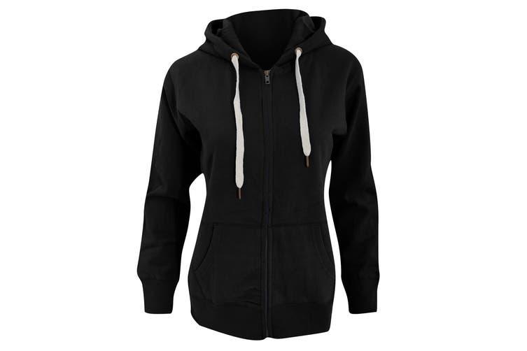 Mantis Womens/Ladies Superstar Zip Hooded Sweatshirt / Hoodie (Black) (XL)