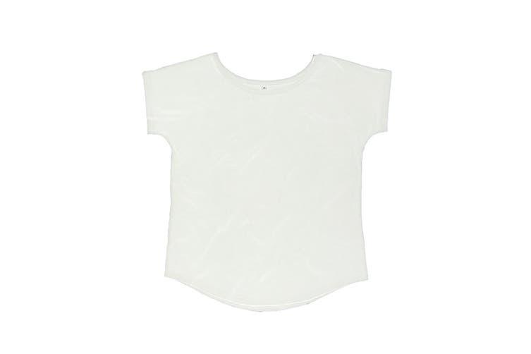 Mantis Womens/Ladies Loose Fit Short Sleeve T-Shirt (White) (XL)