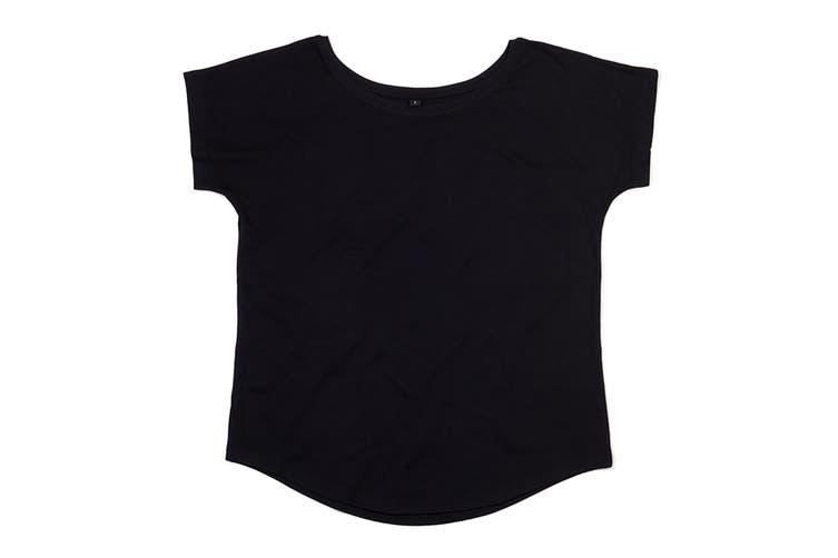 Mantis Womens/Ladies Loose Fit Short Sleeve T-Shirt (Black) (XL)