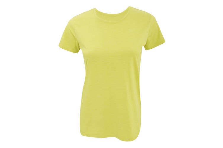 Russell Womens Slim Fit Longer Length Short Sleeve T-Shirt (Yellow Marl) (2XL)