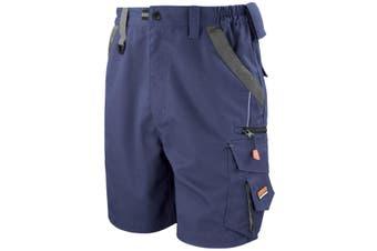 Result Workguard Unisex Technical Work Shorts (Navy/Black)