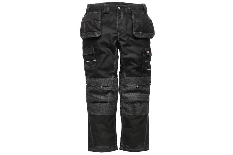 Dickies Mens Eisenhower Max Workwear Trousers (Short  Regular and Tall) (Black) (34R)
