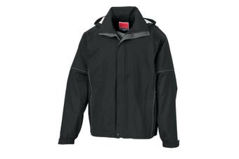 Result Mens Urban Outdoor Fell Lightweight Technical Jacket (Waterproof & Windproof) (Black) (2XL)