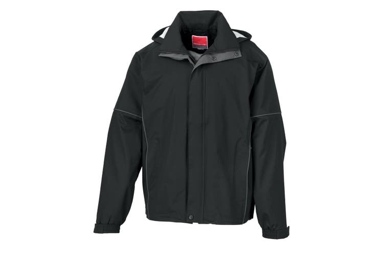 Result Mens Urban Outdoor Fell Lightweight Technical Jacket (Waterproof & Windproof) (Black) (3XL)