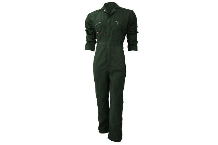 Dickies Redhawk Zip Front Coverall Regular / Mens Workwear (Bottle Green) (52inch)