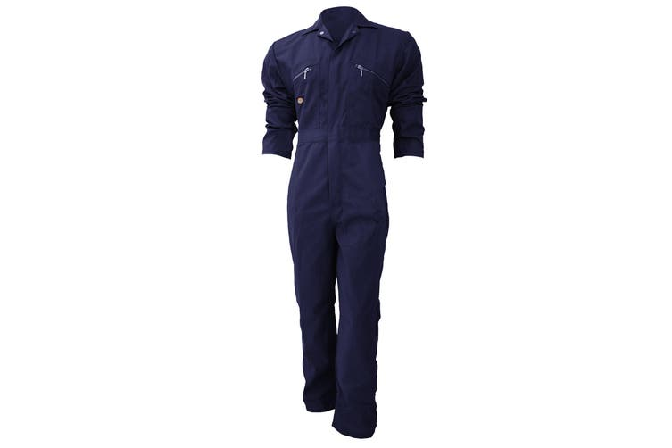 Dickies Redhawk Zip Front Coverall Regular / Mens Workwear (Navy Blue) (42inch)