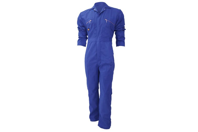 Dickies Redhawk Zip Front Coverall Regular / Mens Workwear (Royal) (46inch)