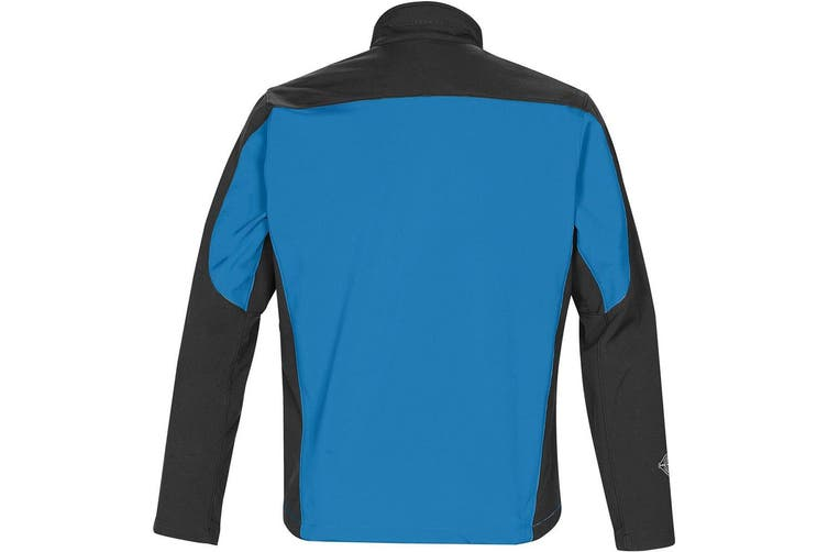 Stormtech Mens Edge Softshell Jacket (Waterproof And Breathable) (Marine Blue/Black) (2XL)