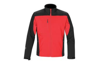 Stormtech Mens Edge Softshell Jacket (Waterproof And Breathable) (Stadium Red/Black) (L)