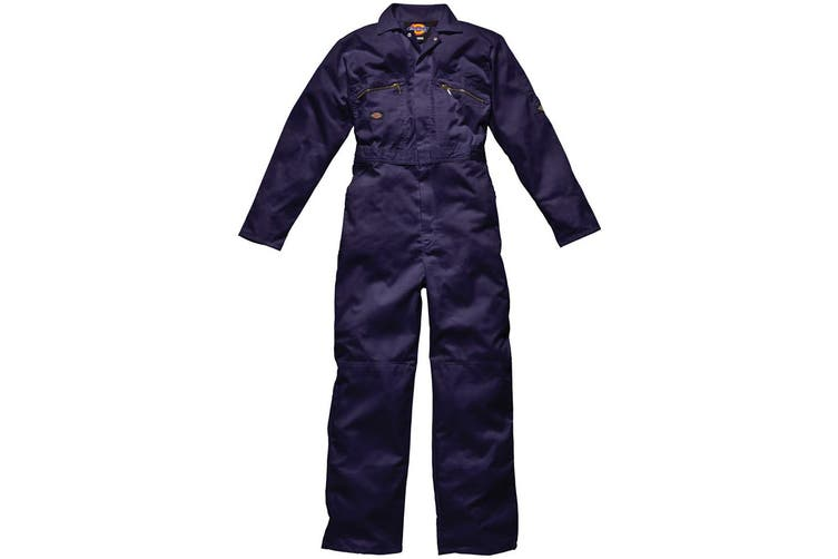 Dickies Redhawk Zip Front Coverall Tall / Mens Workwear (Navy Blue) (40W x Long)