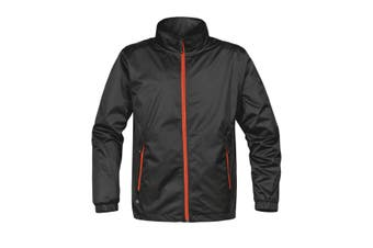 Stormtech Mens Axis Lightweight Shell Jacket (Waterproof And Breathable) (Black/Orange) (XL)