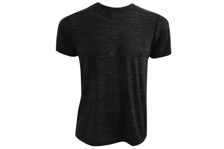 Canvas Unisex Poly-Cotton Short Sleeve T-Shirt (Black Marble) (L)