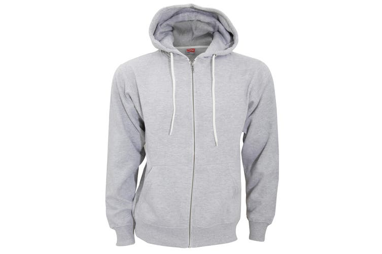 FDM Unisex Team Zip Hoodie (Heather Grey) (L)