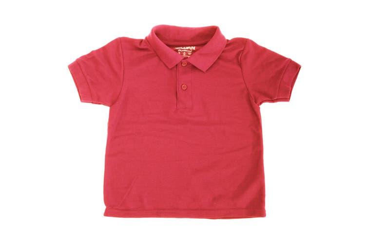 Gildan DryBlend Youth Sport Double Pique Polo Shirt (Red) (L)