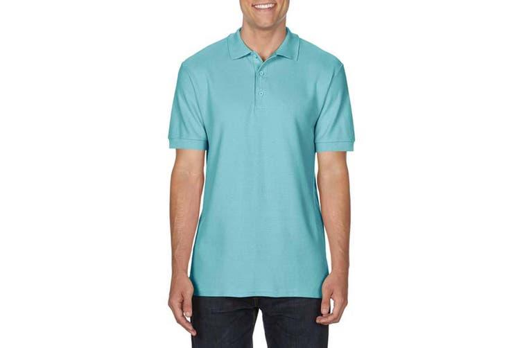 Gildan Mens Premium Cotton Sport Double Pique Polo Shirt (Chalky Mint) (S)