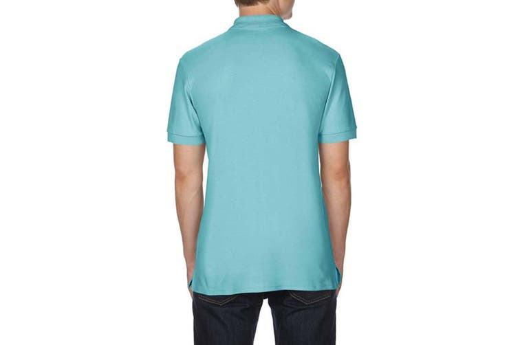 Gildan Mens Premium Cotton Sport Double Pique Polo Shirt (Chalky Mint) (L)