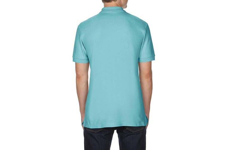 Gildan Mens Premium Cotton Sport Double Pique Polo Shirt (Chalky Mint) (2XL)