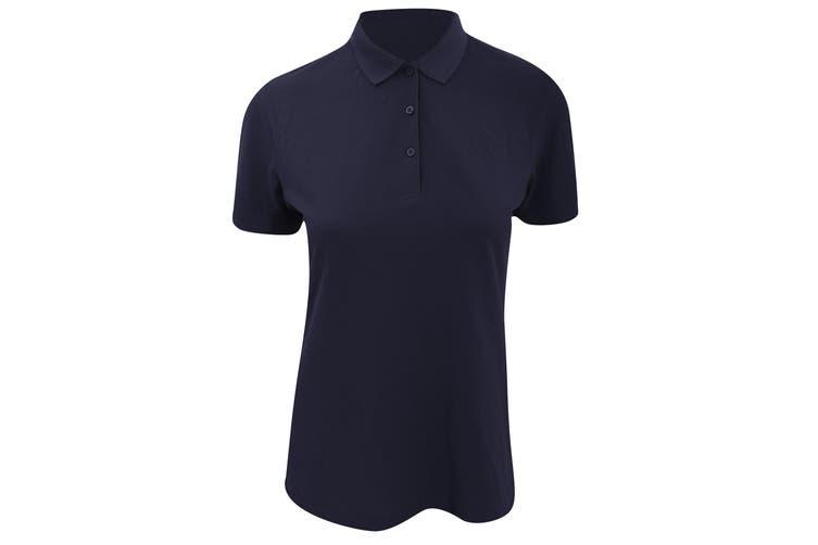 Kustom Kit Womens/Ladies Slim Fit Short Sleeve Polo Shirt (Navy Blue) (12)