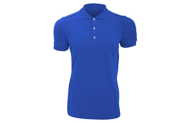 Russell Mens Stretch Short Sleeve Polo Shirt (Bright Royal) (S)
